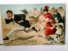 Vas - Tu Mettre Tous Ces Gosses Dans La Corbeille De Noce ?... Papa ! Papa ! Alte Scherz AK Farbig, Ungel. Abe - Humor