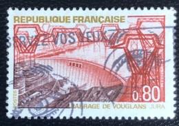 République Française - P3/1- (°)used - 1969 - Michel Nr. 1652 - Stuwdam Van Vouglans - Usados