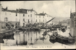 CPA Martigues Bouches Du Rhône, Le Quai De Brescon - France