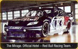 STATI UNITI KEY HOTEL  Mirage Official Hotel Red Bull Racing Team - Hotelsleutels (kaarten)