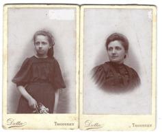 Lot De 2 CDV - Portraits De Femmes - Phot. Dotta à Thoissey - Oud (voor 1900)