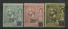 MONACO N° 51 à 53 Cote 26 € Neufs ** (MNH). 1922 - Monaco