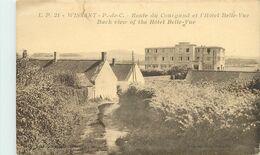 WISSANT - Route Du Courgand Et L(hôtel Belle Vue (carte Vendue En L'état). - Wissant