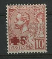 MONACO N° 26 Cote 21 € Neuf ** (MNH) Au Profit De La Croix Rouge. 1914 - Monaco