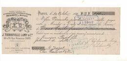 TH75 Mandat J. THIBOUVILLE LAMY & Cie JTL Instruments Musique Londres Usines Mirecourt La Couture Grenelle 1886 - 1800 – 1899
