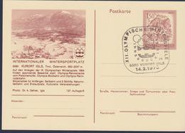 Austria Postal Stationary 1976 Innsbruck Olympic Games - Kurort Igls Posted Kurort Igls (G117-20) - Hiver 1976: Innsbruck