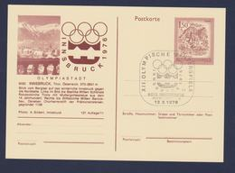 Austria Postal Stationary 1976 Innsbruck Olympic Games - Innsbruck Posted Innsbruck Pressezentrum (G117-20) - Hiver 1976: Innsbruck