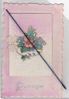 Souvenir : Carte Gaufrée Avec Ajout,petit Livret Et Ruban (destinataire à Midrevaux -88) - Dreh- Und Zugkarten