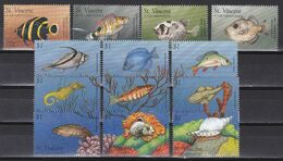 St. Vincent 1996 - Mi.Nr. 3672 - 3693 + Block 396 - 397 - Postfrisch MNH - Tiere Animals Fische Fishes - Peces