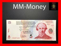 """ARGENTINA 5 Pesos 2001 P. S NL Banco De La Nacion  """"LECOP""""   UNC   [MM.Money] - Argentina"""