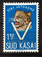 """Sud Kasai - 21B - Léopards - Surcharge """"Lutte Contre La Malaria"""" - 1961 - MNH - South-Kasaï"""