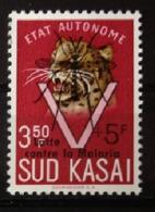 """Sud Kasai - 22B - Léopards - Surcharge """"Lutte Contre La Malaria"""" - 1961 - MNH - South-Kasaï"""
