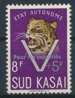 """Sud Kasai - 23C - Léopards - Surcharge """"Pour Les Rapatriés"""" - 1961 - MNH - South-Kasaï"""
