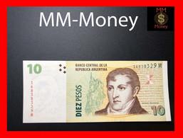 ARGENTINA 10 Pesos 2014 P. 354 SERIE M UNC   [MM-Money] - Argentina
