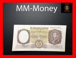 ARGENTINA  5 Pesos  1960  P. 275  Dirty  - Stains    UNC -- - Argentina