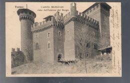 Torino Castello Medioevale Visto Dall'interno Del Borgo VIAGGIATA 1902 Francobollo Rovinato COD.C.2179 - Palazzo Reale