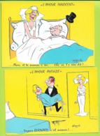ILLUSTRATEUR 2 Cp  ALEXANDRE HUMOUR  L Amour Innocent / L Amour Aveugle Non Ecrites N085 - Alexandre