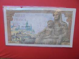 FRANCE 1000 FRANCS 1942 CIRCULER - 1871-1952 Antiguos Francos Circulantes En El XX Siglo