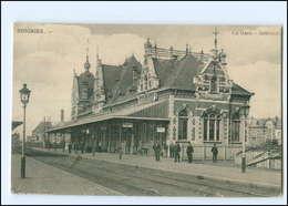 XX007488/ Soignies Belgien La Gare Bahnhof 1915 - België