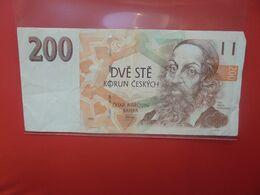 TCHEQUIE 200 KORUN 1993 CIRCULER - Repubblica Ceca