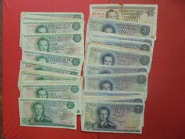 LOT 38 BILLETS LUXEMBOURG 10 FRANCS-20 FRANCS-50 FRANCS ANNEES 1966-67 CIRCULER - Alla Rinfusa - Banconote