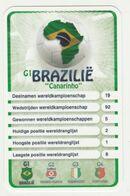 "KRO Mikrogids WK-kaartspel 2010 Brazilië-brasil ""canarinho"" G1 - Andere Sammlungen"