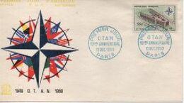 1959  FDC    OTAN     N° YVERT ET TELLIER   1228 2 OBLITERATIONS DIFFERENTES - 1950-1959