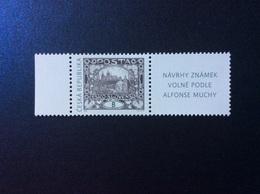 2020 : Po 1088 ** Alfons Mucha Hradčany B Château De Prague + Vignette Znamek - Nuovi