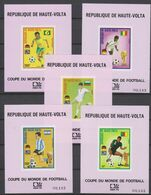 Soccer World Cup 1974 - UPPER VOLTA - 5 S/S Imp. De Luxe MNH - 1974 – Alemania Occidental