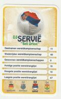 "KRO Mikrogids WK-kaartspel 2010 Servië ""beli Orlovi"" D3 - Andere Sammlungen"