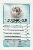 """KRO Mikrogids WK-kaartspel 2010 Zuid-korea South-korea """"taegeuk Jeonsa"""" B3 - Andere Sammlungen"""