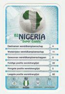 "KRO Mikrogids WK-kaartspel 2010 Nigeria ""super Eagles"" B2 - Andere Sammlungen"