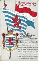 Luxembourg - Luxemburg - Ons Hémecht ( Nationalhym )  Michel Lentz - Moderato  J.A.Zinnen 2 Scans - Postcards