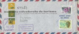 SALVADOR AFFRANCHISSEMENT COMPOSE SUR LETTRE A EN TETE POUR LA FRANCE 1970 - El Salvador