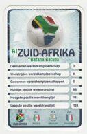 "KRO Mikrogids WK-kaartspel 2010 Zuid-afrika South-africa ""bafana Bafana"" A1 - Andere Sammlungen"