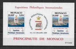 2000 - MONACO - BLOC N° 85 ** MNH - EXPO MONACO 2000 - Bloques