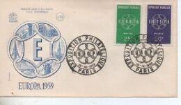 1959  FDC    VEUROPA     N° YVERT ET TELLIER   1218/9 - 1950-1959