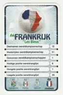 "KRO Mikrogids WK-kaartspel 2010 Frankrijk-france ""les Blues"" A4 - Andere Sammlungen"