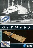 15191026 BE 19910504 Blankenberge + Gent; Europa, Telecom, Satellite Olympus, Navette Hermes; 2 CM Cob2406-07 - 1991-2000