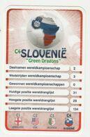 "KRO Mikrogids WK-kaartspel 2010 Slovenië-slovenia ""green Dragons"" C4 - Andere Sammlungen"
