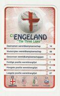 "KRO Mikrogids WK-kaartspel 2010 Engeland-england ""the Tree Lions"" C1 - Andere Sammlungen"