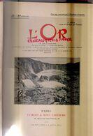 LIVRE L' OR  H. HAUSER- EXTRACTION MINERAIS-MINES MONNAIE-VUIBERT & NONY-PARIS- 379 PAGES DONT 309 PHOTOS -RARE - Sciences