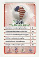 "KRO Mikrogids WK-kaartspel 2010 USA United States Of America ""the Stars And Stripes"" C2 - Andere Sammlungen"