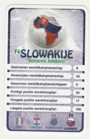 "KRO Mikrogids WK-kaartspel 2010 Slowakije-slovakia ""bonjovni Jondovci"" F4 - Andere Sammlungen"
