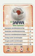"""KRO Mikrogids WK-kaartspel 2010 Japan """"blue Samurai"""" E3 - Andere Sammlungen"""