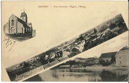 AUTREY (70) Vue Générale, L'Egise, L'Etang. Coll. J.B., Envoi 1907 - Andere Gemeenten