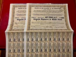JAPY  FRÈRES  Et  Cie  ----------------- Lot  De  2  Obligations  De  1.000 Frs - Industrie