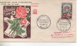1959  FDC   FLORALIES PARISIENNES     N° YVERT ET TELLIER   1189 - 1950-1959