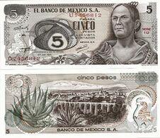 MEXICO       5 Pesos       P-62b       27.10.1971       UNC  [ Serie 1U ] - Mexiko