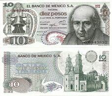 MEXICO       10 Pesos       P-63f       18.7.1973       UNC  [ Serie 1CG ] - Mexiko